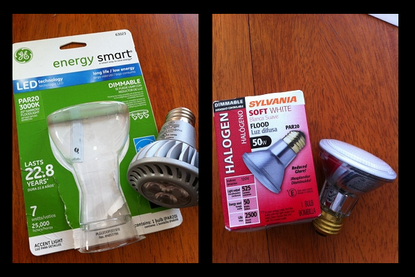 Lightbulb Challenge LED Vs Halogen Rethinking