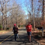 About 19 miles in. Being cheered on by my sister, Meika.